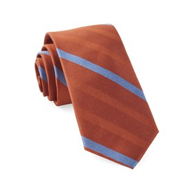Orange Goal Line Stripe ties