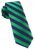 Ties - Lumber Stripe - Kelly Green