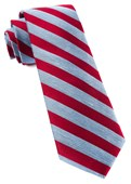 Ties - Lumber Stripe - Red