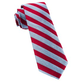Red Lumber Stripe ties