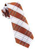 Ties - Noonday Plaid - Burnt Orange