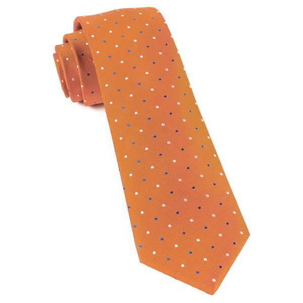 Orange Jpl Dots Tie