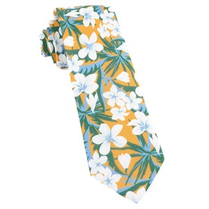 tropic of linen mango ties