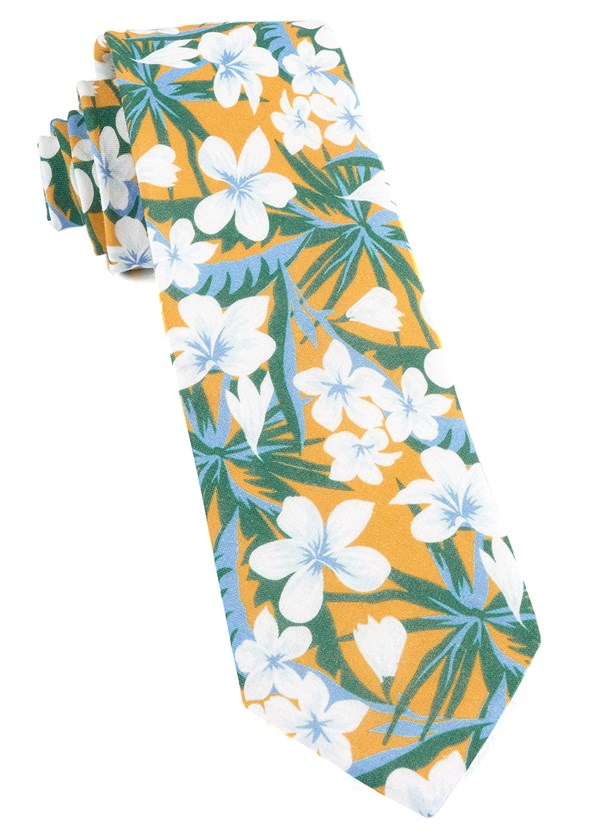 Tropic Of Linen Mango Tie