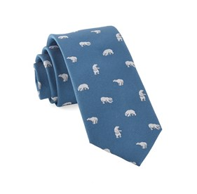 Polar Bears Teal Ties