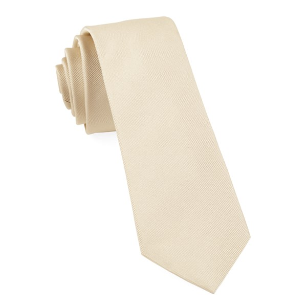 Light Champagne Grosgrain Solid Tie