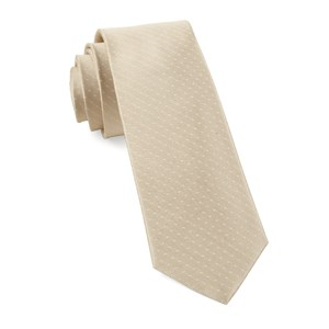 mini dots light champagne ties