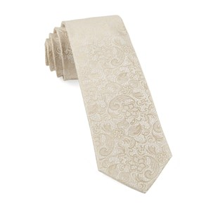 ceremony paisley light champagne ties