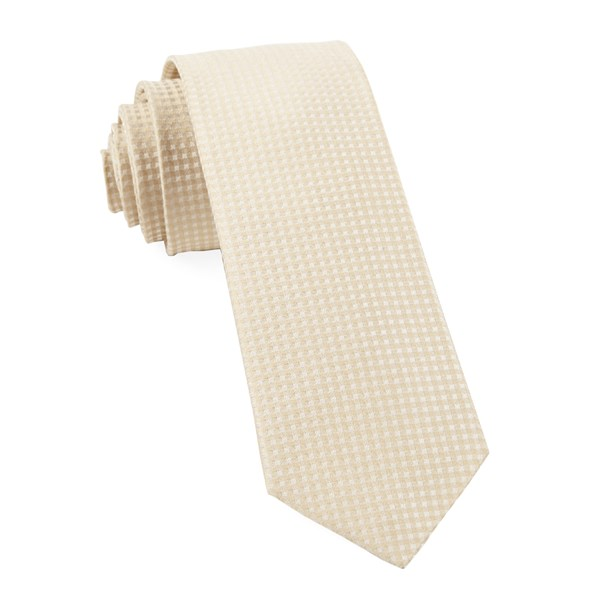 Light Champagne Be Married Checks Tie