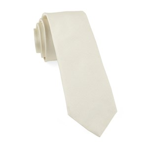 grosgrain solid ivory ties