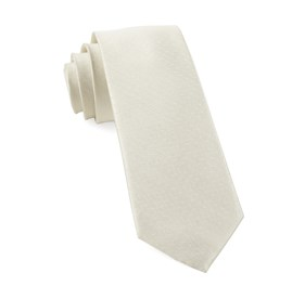 Ivory Mini Dots ties