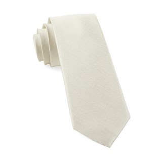 mini dots ivory ties