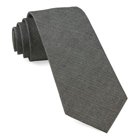 Speedway Solid Charcoal Ties