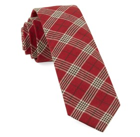 Red Newton Plaid ties