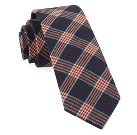 Navy Newton Plaid ties