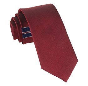 Red Strong Side Stripe ties