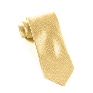 herringbone light champagne ties