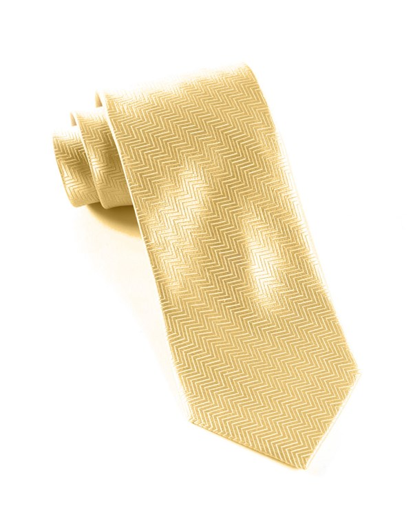 Herringbone Light Champagne Tie