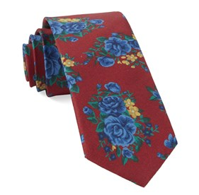 Apple Red Hinterland Floral ties