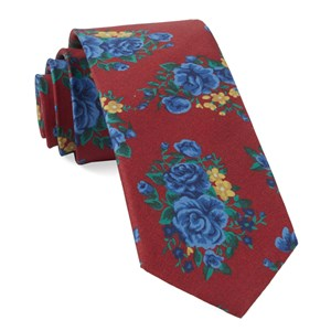 hinterland floral apple red ties