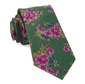 Kelly Green Hinterland Floral ties