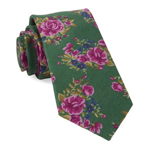 hinterland floral kelly green ties
