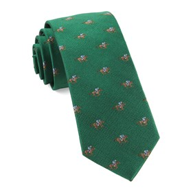 Horse Racing Emerald Green Ties
