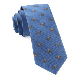 Light Blue Horse Racing ties