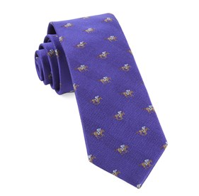 Horse Racing Plum Ties