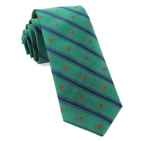 Kelly Green Basketball Stripe ties