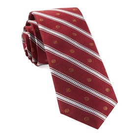 Basketball Stripe Red Ties