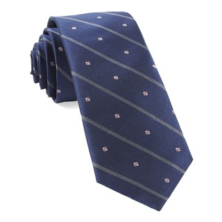baseball stripe navy ties