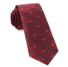 Red Baseball Stripe ties