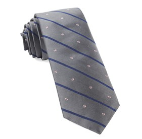 Grey Baseball Stripe ties