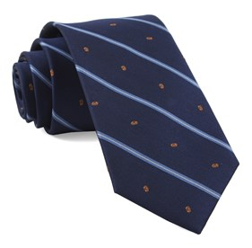 Football Stripe Navy Ties