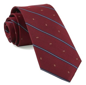 Football Stripe Red Ties