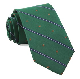 Kelly Green Football Stripe ties