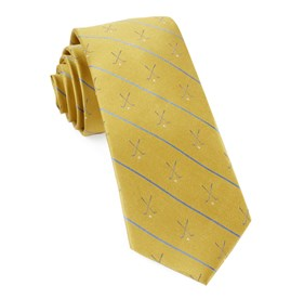 Yellow Golf Club Stripe ties