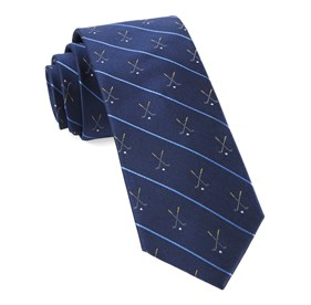 Navy Golf Club Stripe ties
