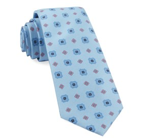Baby Blue Wildflower Medallion ties
