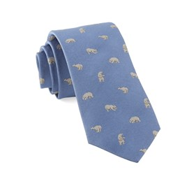 Polar Bears Light Blue Ties