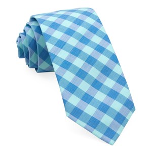 old city checks spearmint ties