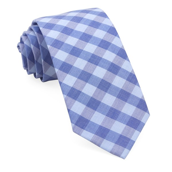 Light Blue Old City Checks Tie