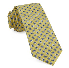 Fringe Paisley Yellow Ties