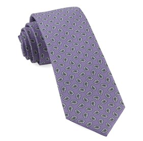 Lilac Fringe Paisley ties