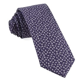 True Floral Purple Ties