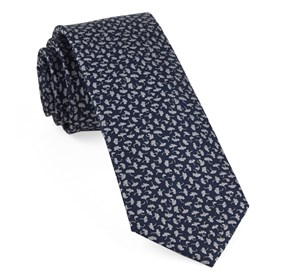 Navy True Floral ties