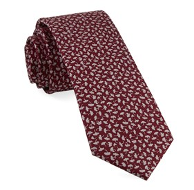 True Floral Red Ties