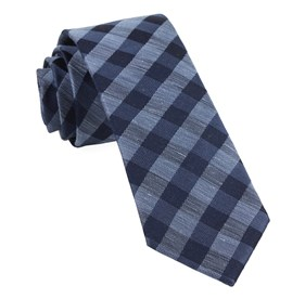 Slate Blue Hale Checks ties