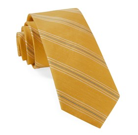 Mustard Derby Lane Stripe ties